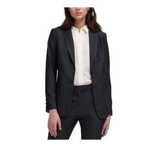 DKNY Womens Suit Separate Two-Button Blazer